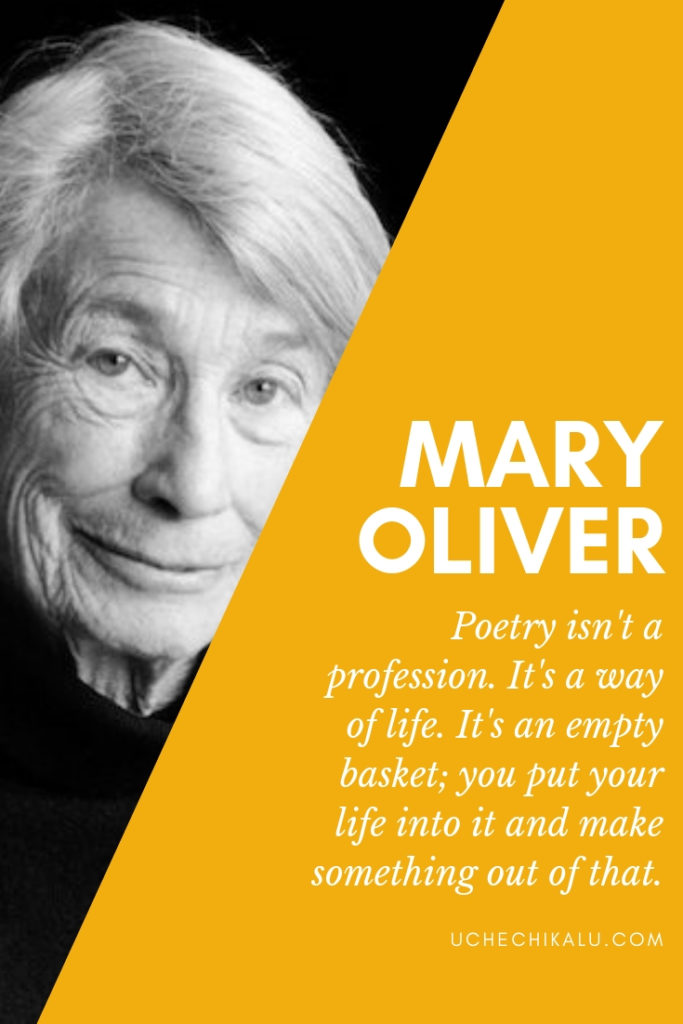 Mary Oliver explains poetry as a container
